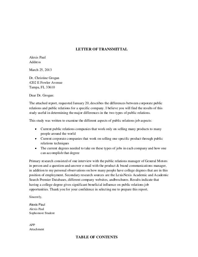 short business report sample
