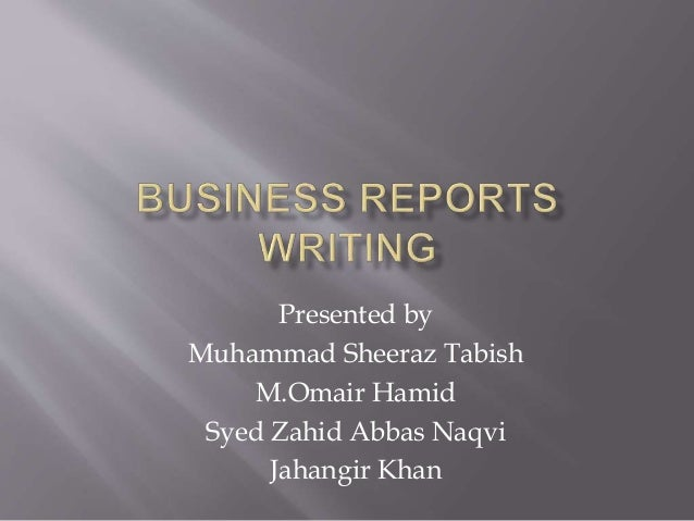 Business report writing helper