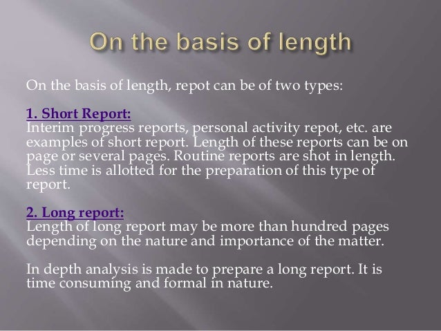 short business reports