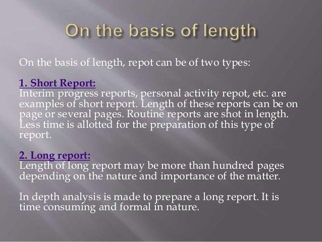 primary report types