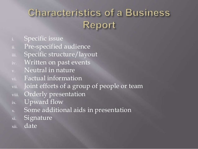 business reports writing