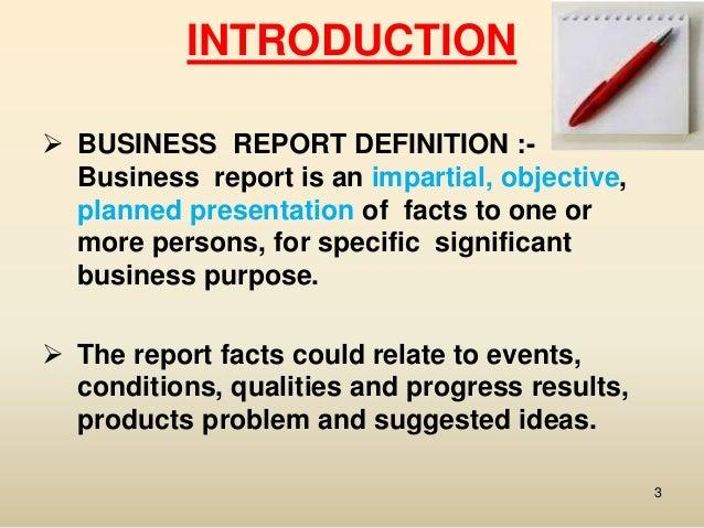 buisness report