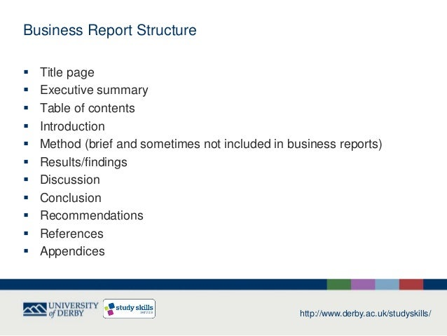 business report example for students pdf
