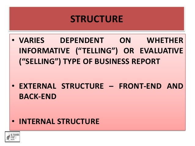 Business and Report Writing Skills – Type of Business Report
