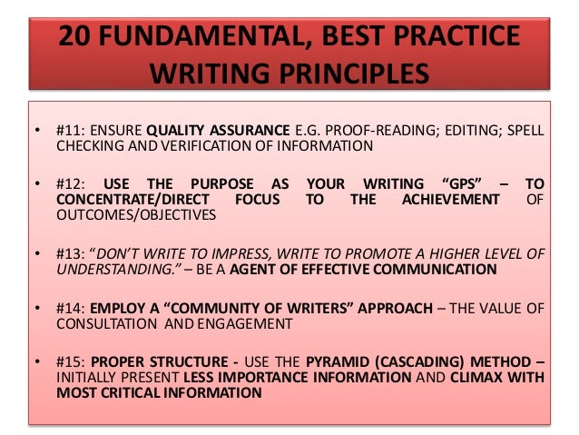 20 FUNDAMENTAL, BEST PRACTICE WRITING PRINCIPLES • #16: APPLY THE WATERFALL APPROACH – VERTICAL ALIGNMENT AND SYNERGY BETW...