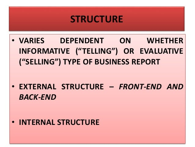 EXTERNAL STRUCTURE – BACK-END • GLOSSARY OF TECHNICAL TERMS AND ACRONYMS • LIST OF SOURCES/REFERENCES • ATTACHMENTS – APPE...