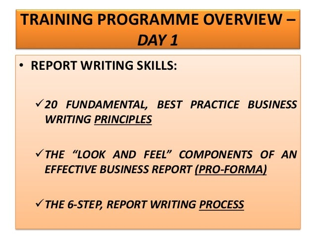 Business report writing skills ppt