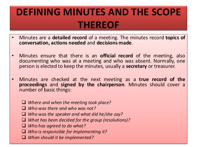 TRANSCRIBING (DURING MEETING) • Use whatever recording method is comfortable for you • Write down items in the order in wh...