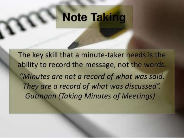 LEARNING ACTIVITY 5 • Group discussion: • Identify some of the foremost challenges when taking, transcribing and writing m...