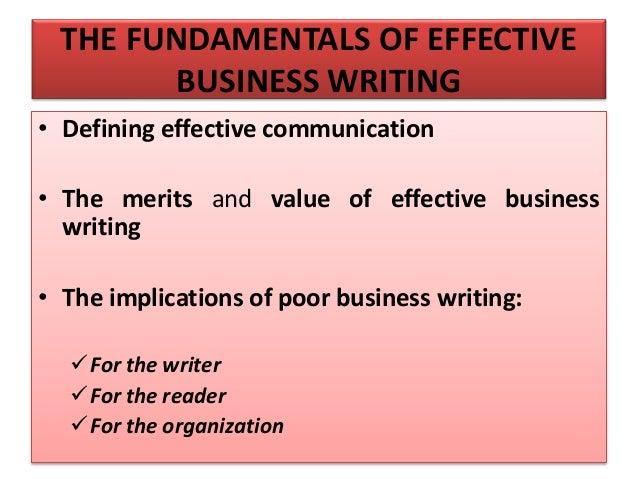 Professional Business Writing