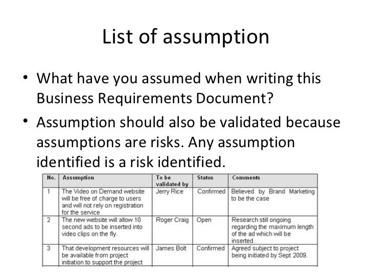 Business requirements documents accmission Gallery