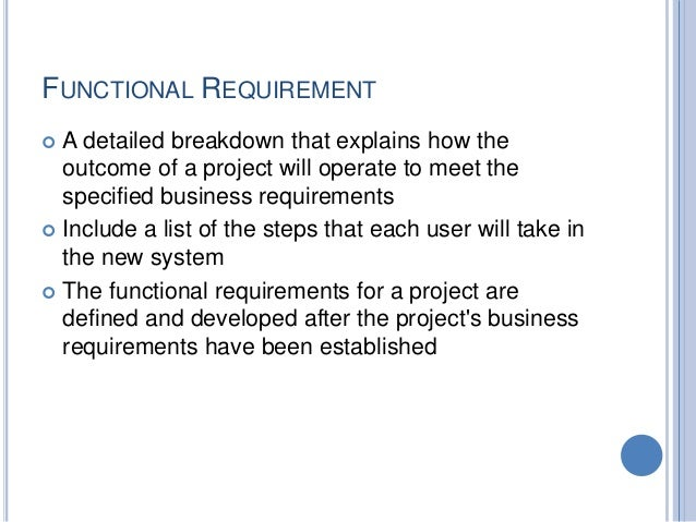 Business Requirements Gathering And Analysis