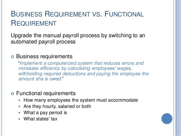 how to write business requirements In developing your business requirements you will come to make some assumptions, either about the way that something currently is, the way that a process operates, or how you believe something is going to be handled in the future state (after these requirements are in play.