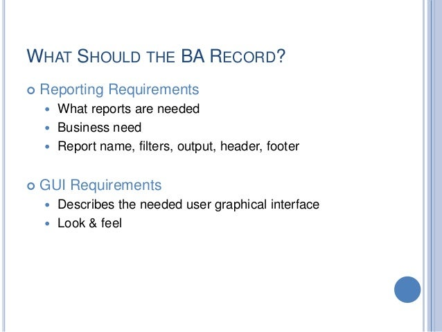 report requirements gathering template - business requirements gathering and analysis