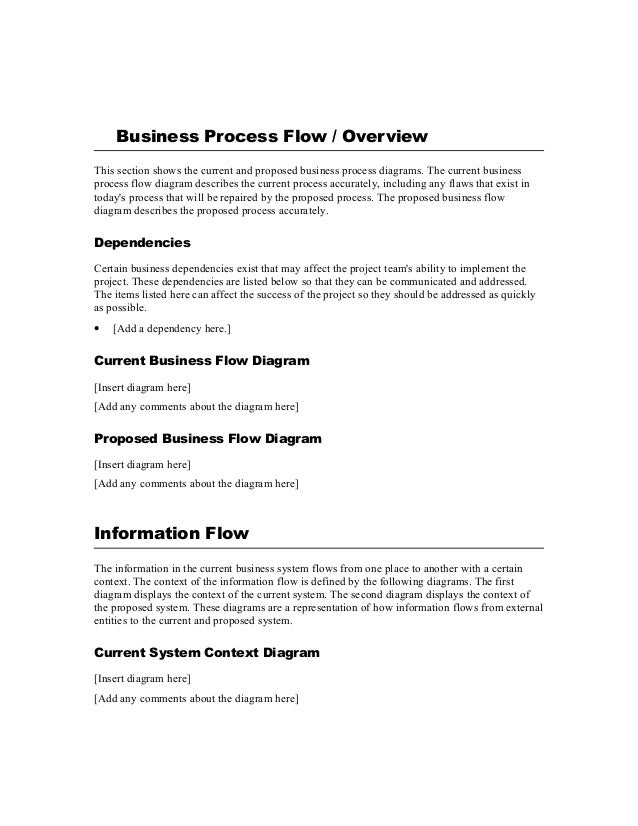 business process - Business Process Requirements Template