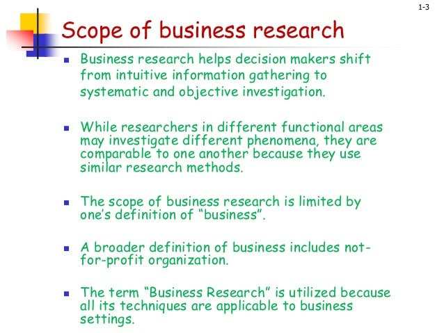 business research slideshare