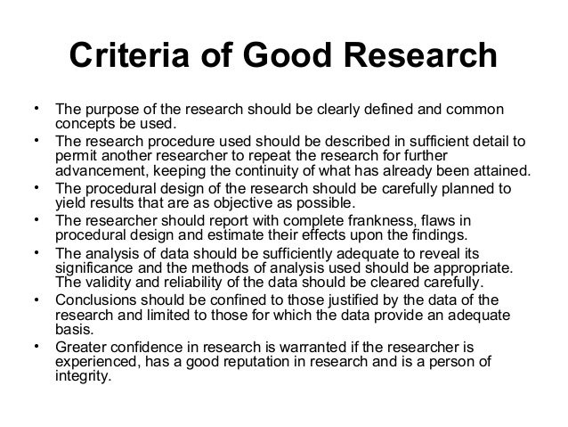 good research methods