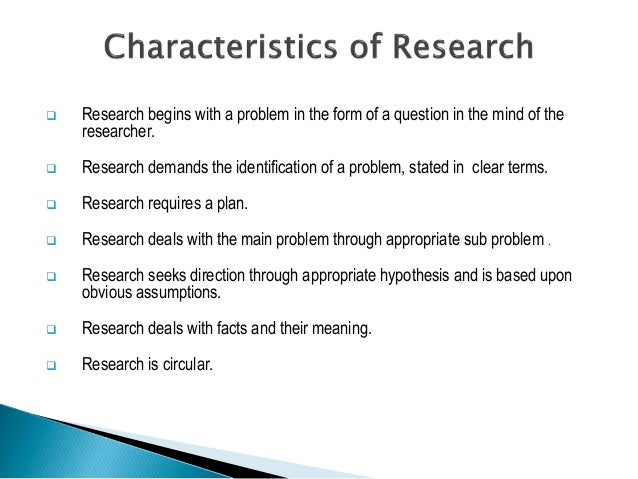Basic methods of research