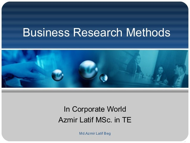 Selecting Which Business Research Method to Use