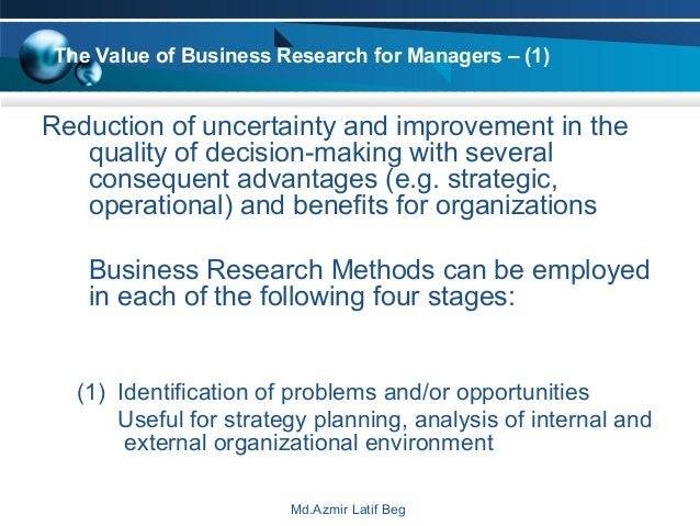business research methods db 1 Read this full essay on business research methods db 1 1 as area sales manager for a company manufacturing and marketing outboard engines, you have.