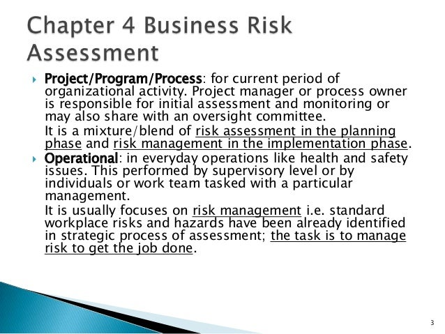Business risk assessment – Business Risk Assessment