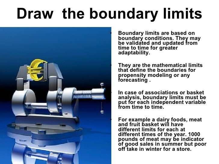 Draw  the boundary limits <ul><li>Boundary limits are based on boundary conditions. They may be validated and updated from...