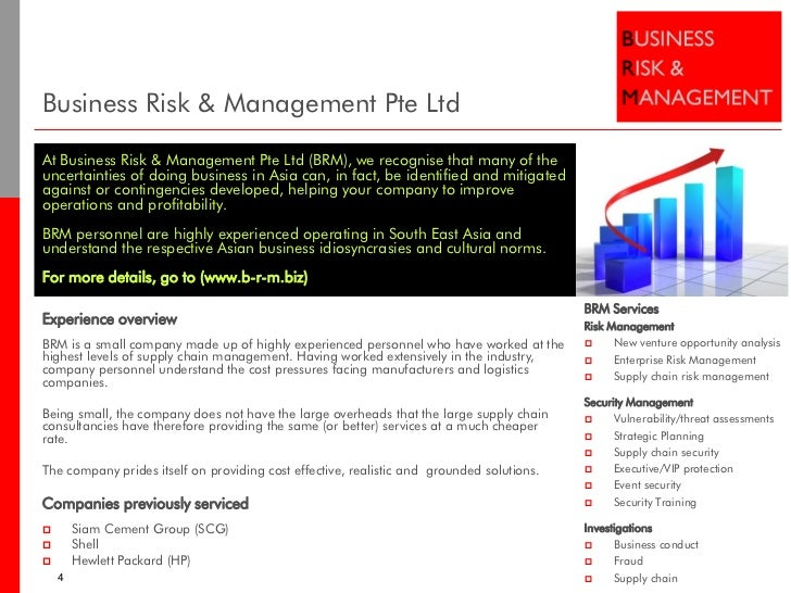 Business Amp Management Consultants : Supply chain services business risk management