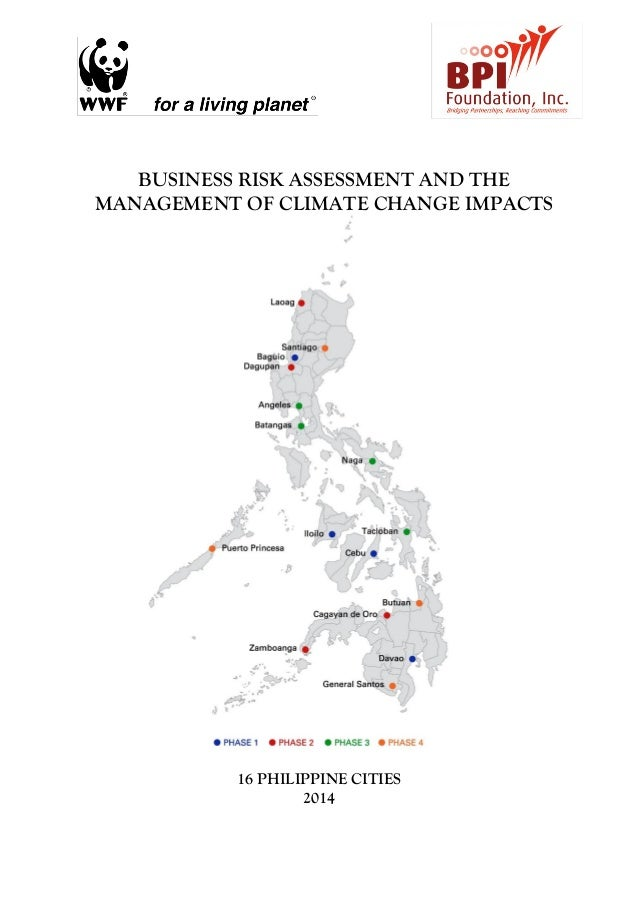 Business Risk Assessment And The Management Of Climate Change Impacts