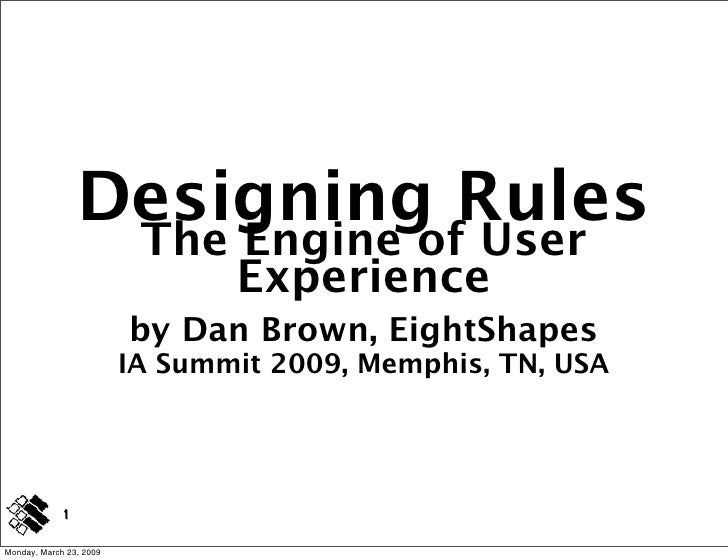 Designing Rules                           The Engine of User                               Experience                     ...