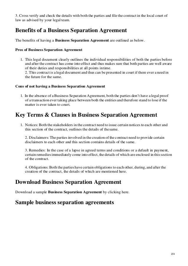 Business Separation Agreement Template from image.slidesharecdn.com