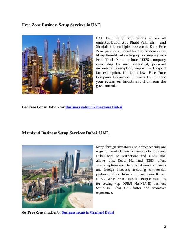 Why setup business in Dubai?