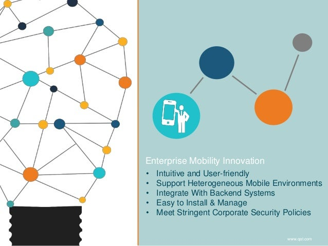 Enterprise Mobility Innovation • Intuitive and User-friendly • Support Heterogeneous Mobile Environments • Integrate With ...