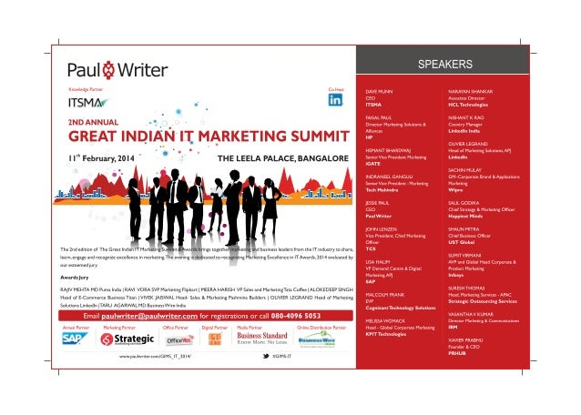Business Standard Ad for Great Indian IT Marketing Summit