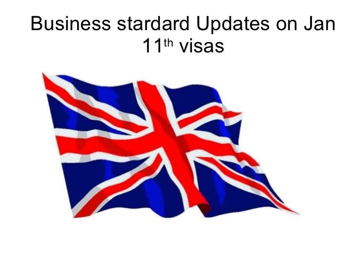 Business stardard Updates on Jan 11 th  visas