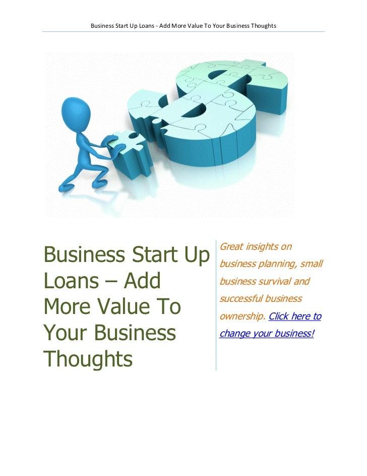 Start up loans business plan