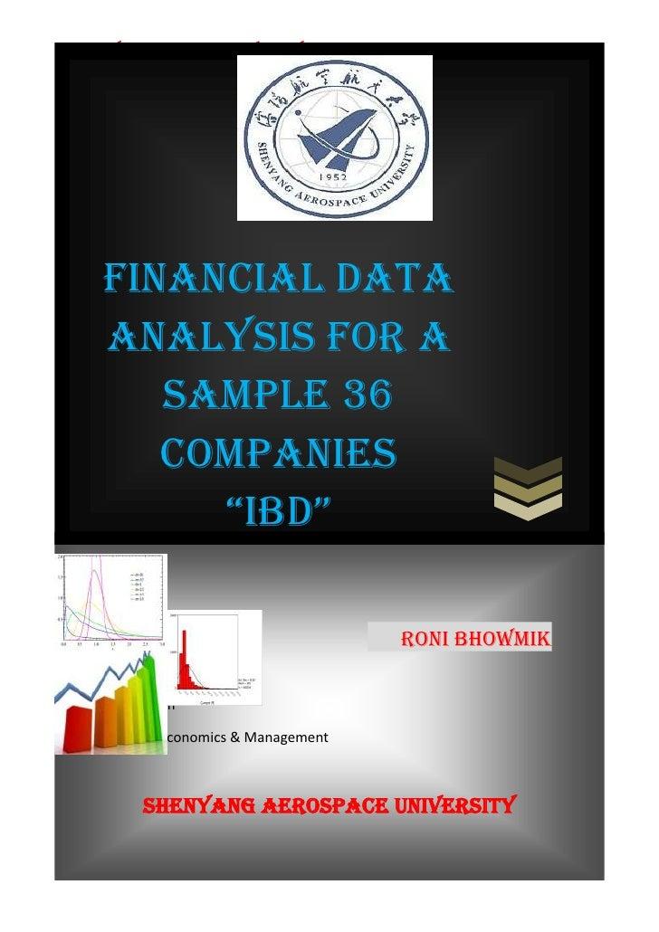"SHENYANG AEROSPACE UNIVERSITY     Financial Data     Analysis for a        sample 36        Companies          ""IBD""      ..."