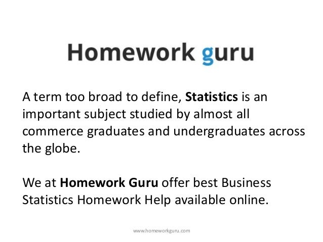 Want To Be Always Tagged As The Best Student In Class? Avail Quality Statistics Homework Help