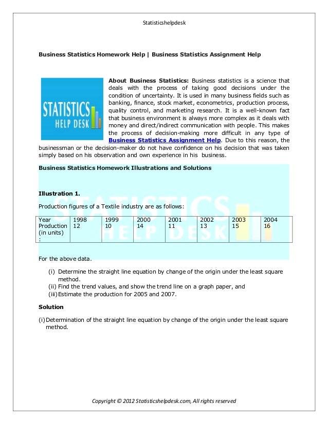 Homework help description of business