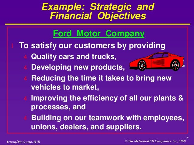 Business strategy chapter 1 Ford motor company financials