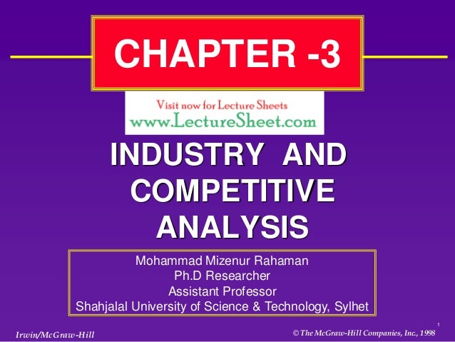 CHAPTER -3                    INDUSTRY AND                      COMPETITIVE                       ANALYSIS                ...