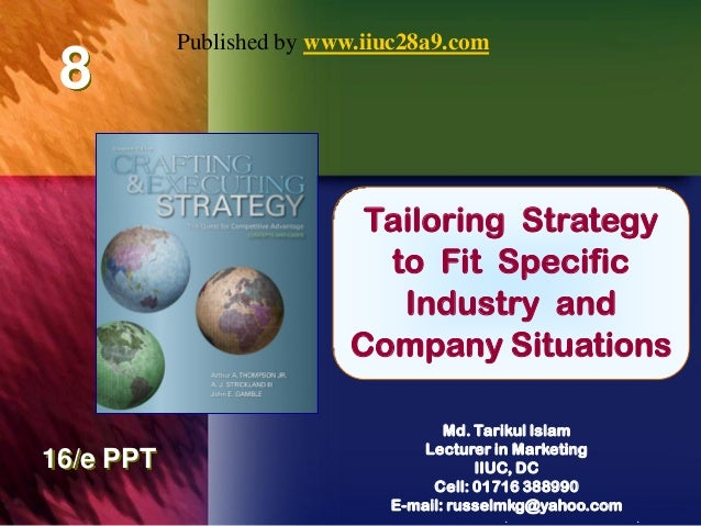 Published by www.iiuc28a9.com 8                            Tailoring Strategy                               Chapter Title ...