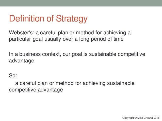Business Strategy for Product Managers (2018) Slide 3