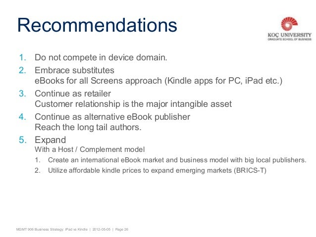 A comparative business strategy ipad vs kindle options recommendations 25 mgmt 906 business fandeluxe Images