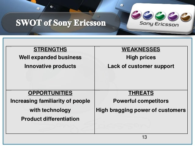 global strategy of sony ericsson What does global localization mean before the establishment of the sony computer entertainment europe (scee), sony pursued the 'global localization' strategy, whereby having local operations meet local needs whilst introducing common global concepts and technologies across the organization (mol & quintane, 2007.