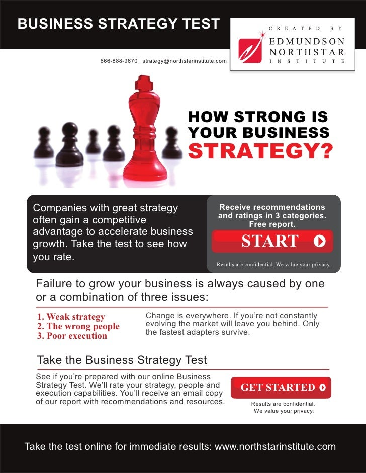 BUSINESS STRATEGY TEST                     866-888-9670 | strategy@northstarinstitute.com                                 ...