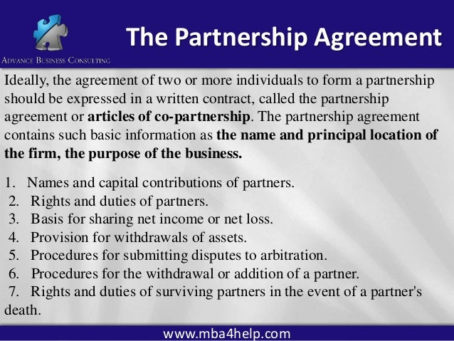 Business structure 1 for Articles of partnership template