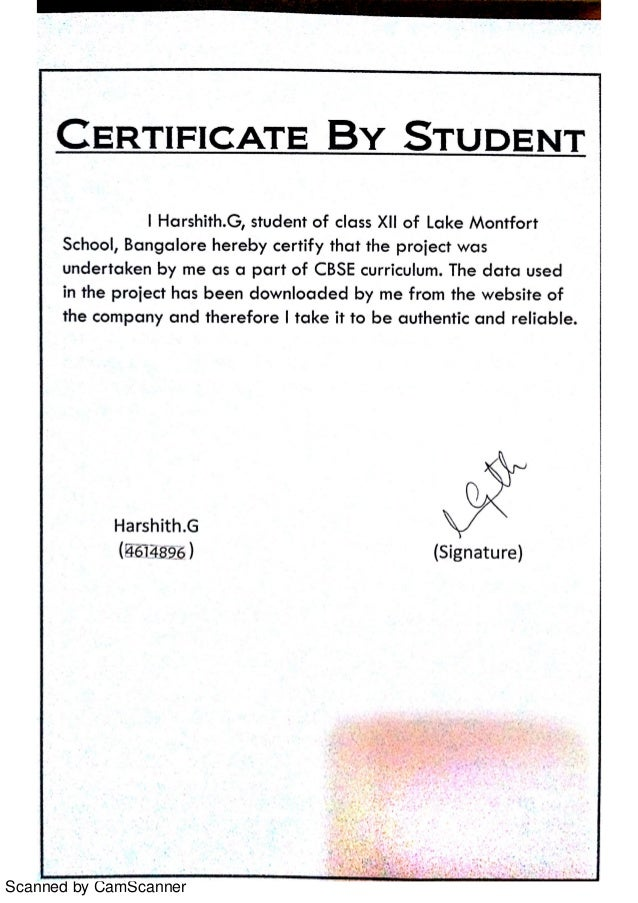 Business studies Class 12 Project