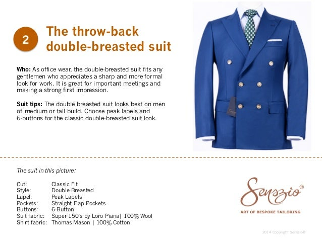 Business suit styles for 2015 by Senszio
