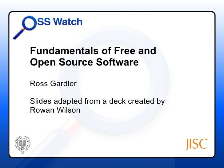 Fundamentals of free and open source software Open source programs