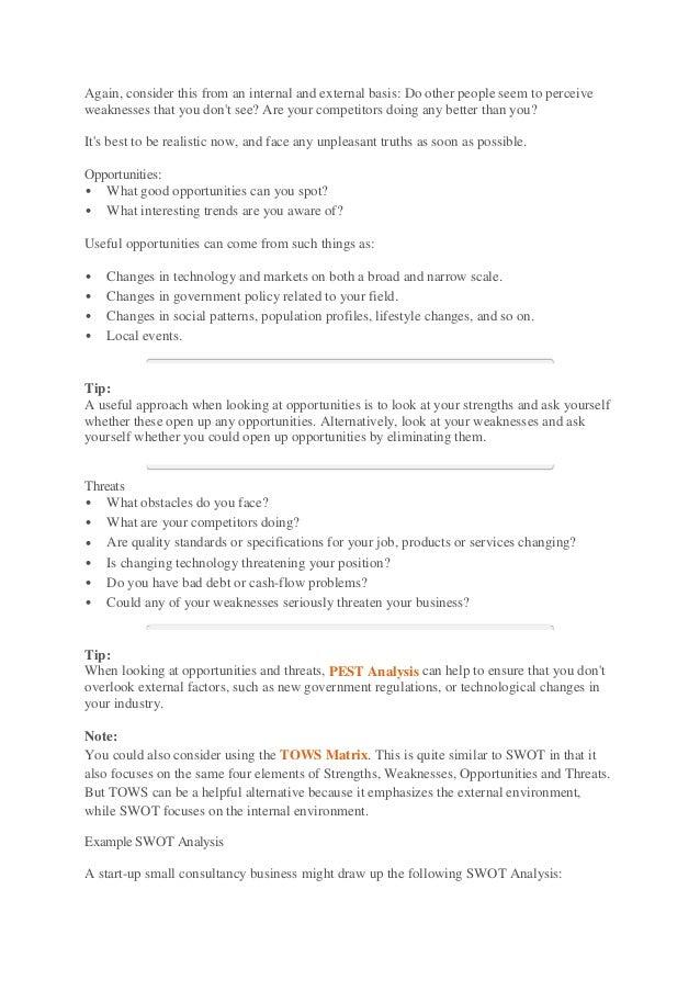 business swot analysis 2